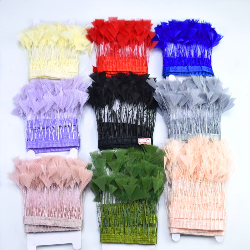 Top quality 2Meter colorful Goose Feathers ribbon Party decoration DIY Pheasant Feather trim Fringe crafts clothes Home plumes