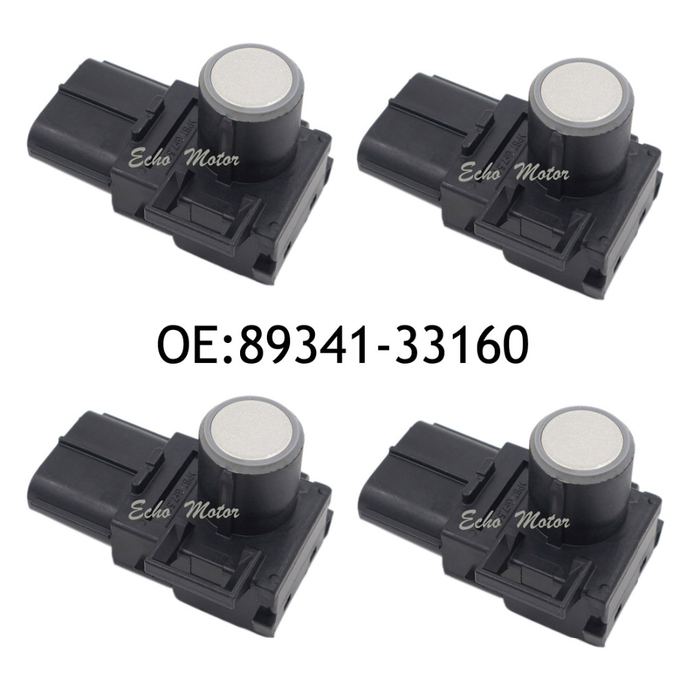 New 4pcs 89341-33160 8934133160 for Toyota Lexus Black Silver White Reversing Sensor Wireless Front And Rear Parking Sensors auto reversing radar 89341 28480 a0 is suitable for toyota estima parking sensors free delivery