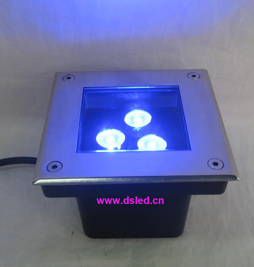 Free shipping by DHL !! IP67good quality,high power 9W RGB LED recessed light,RGB LED underground light,DS-11D-L120-9W-RGB,12VDC used good condition vx4a66105 with free dhl