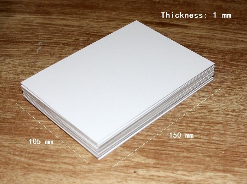 Size 105*150mm Plain White Chipboard Pad Cardstock 1mm Cardboard Scrapbooking Card 2/10/30/50pcs