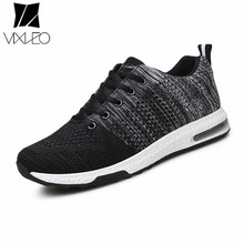 VIXLEO 2017 Hot Sales Casual Shoes For Men Fashion Light Breathable cheap Lace-up Male Shoes Super Light Black Free Shipping