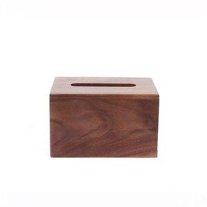 Image 5 - Face towel tray solid wood paper box box napkin box hotel restaurant bedroom wooden tissue box