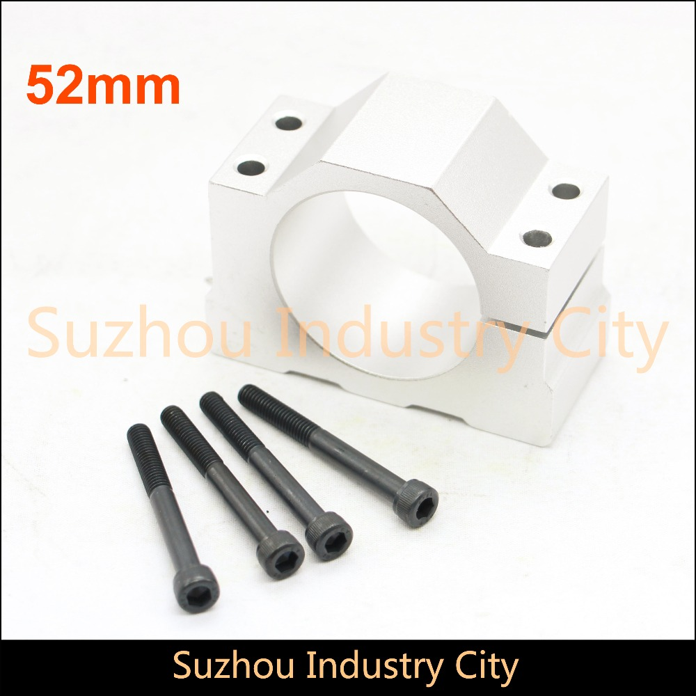 52mm Spindle motor fixture aluminum Clamping Bracket 52mm aluminium amount bracket For CNC Woodworking spindle motor!