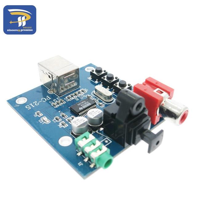5V USB Powered HIFI PCM2704 DAC to S/PDIF Sound Card Decoder Board 3.5mm Analog Output F/PC
