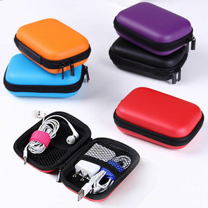 2019 Travel Digital USB Storage Portable Travel Headset Earphone Earbud Cable Storage Pouch Bag Hard Case Box