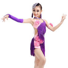 Latin Dance Skirt Costume girl children dance clothing girls fringed skirt costume women