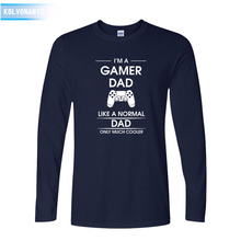 KOLVONANIG 2019 Fall Dresses For Men's Top Tee I'm A Gamer Dad Fathers DAY Gift Print T Shirt Gaming O-Neck Long Sleeve T-Shirts все цены
