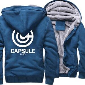 Sweatshirt For Men 2018 Hot Sale Thick Hoodie Print DRAGON BALL Anime Fashion Streetwear Fitness Men's Sportswear Hoodies Kpop(China)