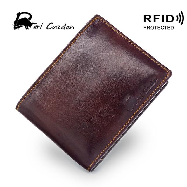 Portemonnee Heren Rfid.Deri Cuzdan Rfid Portemonnee Vintage Heren Korte Portemonnee Lederen