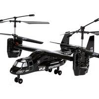RC Helicopter Osprey V22 US Airforce Military Transport Aircraft 2.4G 4Ch Telecomando Drone Modello RTF Elettronico Giocattolo di Hobby