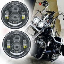 4.65 inch for Harley Motorcycle Double LED Headlights With DRL halo For Harley Dyna Fat Bob FXDF Model Moto LED Headlight