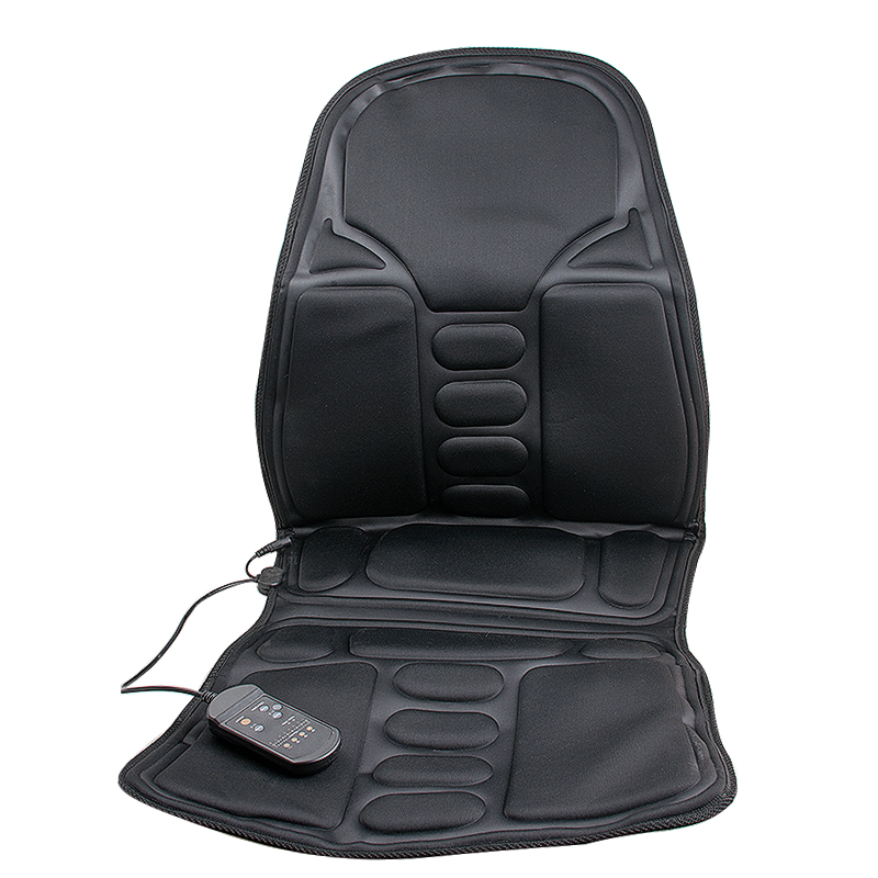 Car Home Office Seat Massager Relaxation Back Massage Chair Heat Seat Cushion Neck Pain Lumbar Support Pads Car new car seat office chair massage back lumbar support mesh ventilate cushion pad black high big size