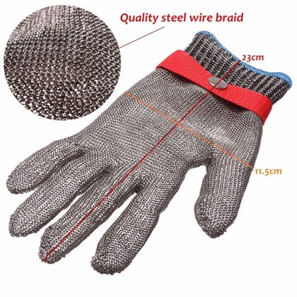 Safety Cut Proof Stab Resistant Stainless Steel Metal Mesh Butcher Gloves High Performance Level 5 Protection Gloves top quality 304l stainless steel mesh knife cut resistant chain mail protective glove for kitchen butcher working safety