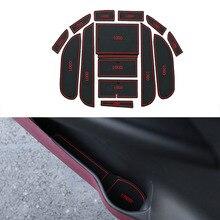 15Pcs/Set Car Styling Slot Pad Interior Door Groove Mat Latex Anti-Slip Cushion For Honda Ciimo 2012 Car Internal Dedicated