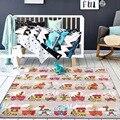 Espessura 1.5 cm Trem Dos Desenhos Animados 185*80 cm Esteira do Jogo Tapete Bebê Engatinhando Tapete Cobertor Brinquedos Estilo Nórdico Crianças Decoração do quarto da Criança Jogo