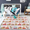 Thickness 1.5cm Cartoon Train 185*80cm Play Mat Crawling Rug Baby Carpet Blanket Toys Nordic Style Kids Room Decor Child Game