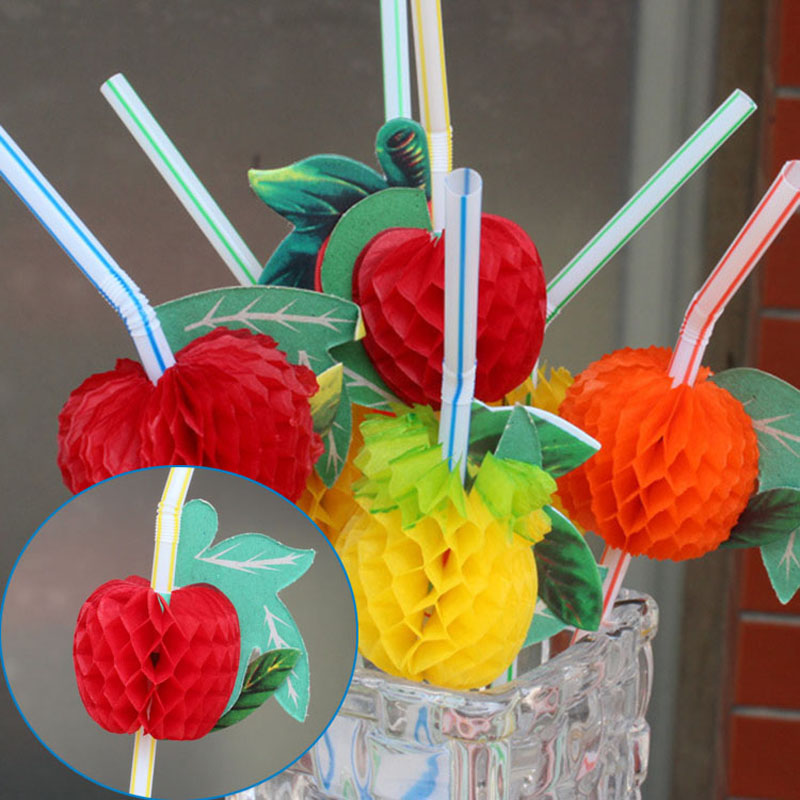 Professional Sale 50pcs/set Colorful Plastic Drinking Fruit Straw For Wedding Party Birthday Festive Decoration Tea Orange Beer Coffee Cute Straw To Be Renowned Both At Home And Abroad For Exquisite Workmanship Festive & Party Supplies Event & Party Skillful Knitting And Elegant Design