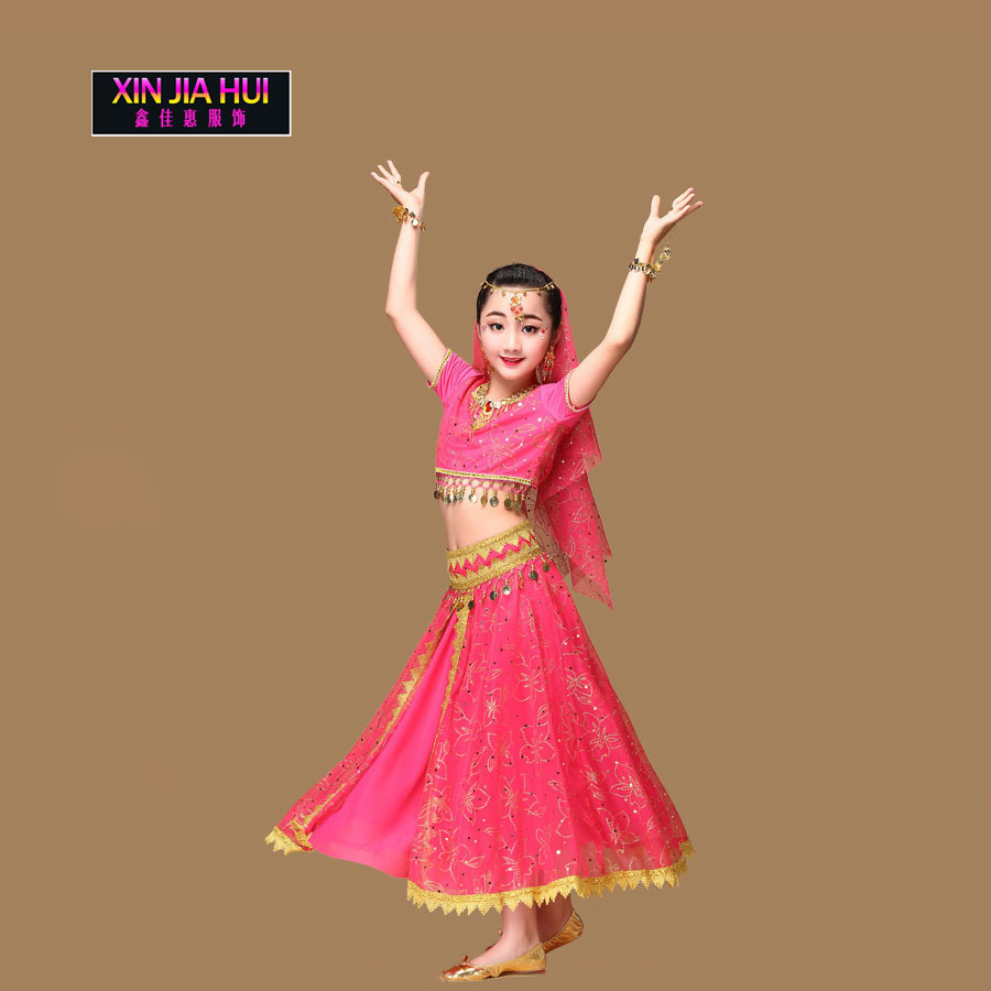 2a0615b9a Sari Girls Dress Set Orientale Enfant Indian Jewelry Costumes For ...