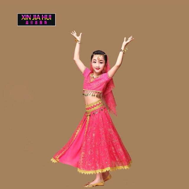Sari Girls ชุด Orientale Enfant อินเดียเครื่องประดับเครื่องแต่งกายสำหรับเด็ก Oriental Belly Dance Dancer เสื้อผ้า Deadpool อียิปต์