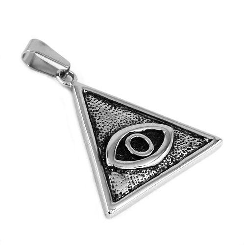 Illuminati Πυραμίδα Σύμβολο Μάτι κρεμαστό - Κοσμήματα μόδας - Φωτογραφία 1