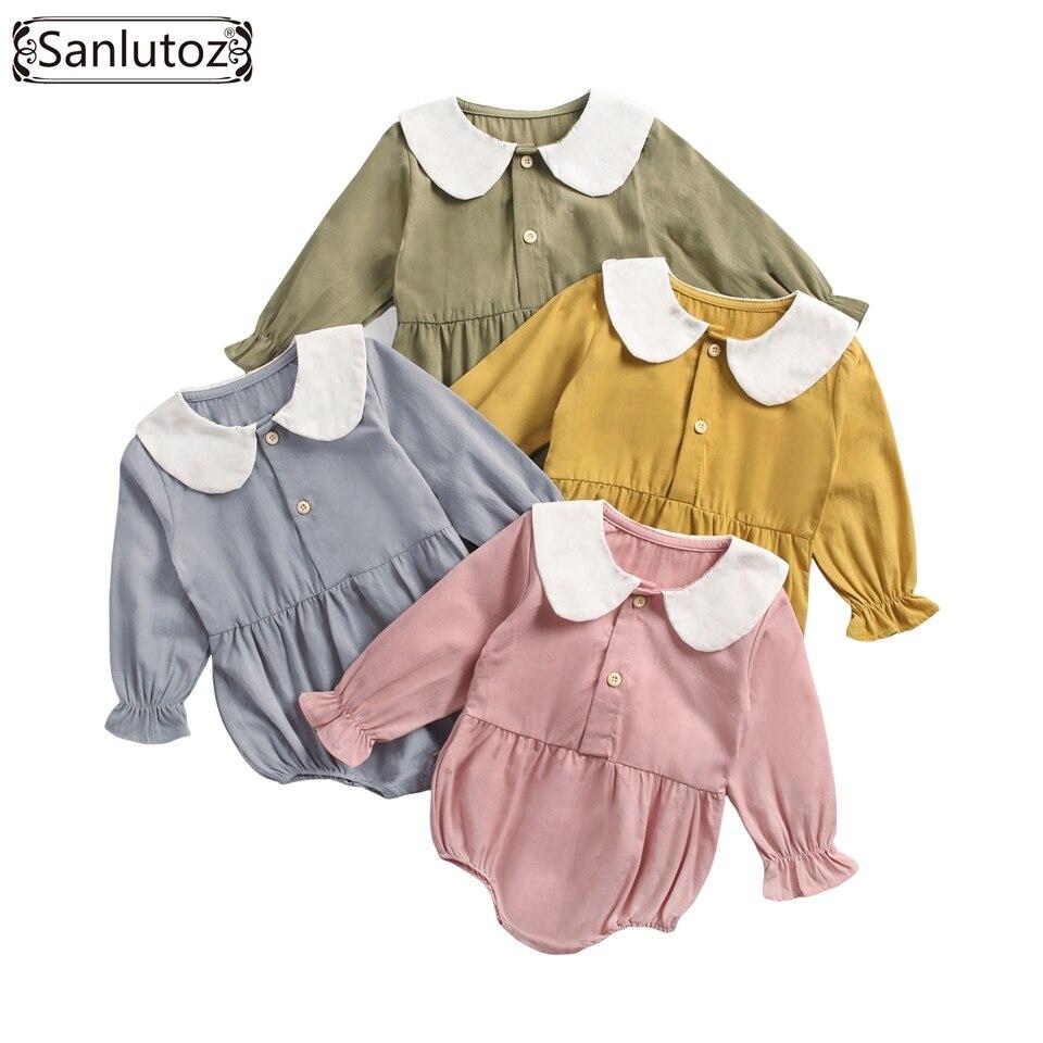 Sanlutoz-vêtements d'hiver en coton pour petites filles | Jolies barboteuses, vêtements pour nouveaux nés