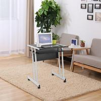 Передвижной стол для ноутбука прочный Офисный Компьютерный стол портативный ноутбук рабочая станция бытовой стол из поликарбоната подста...
