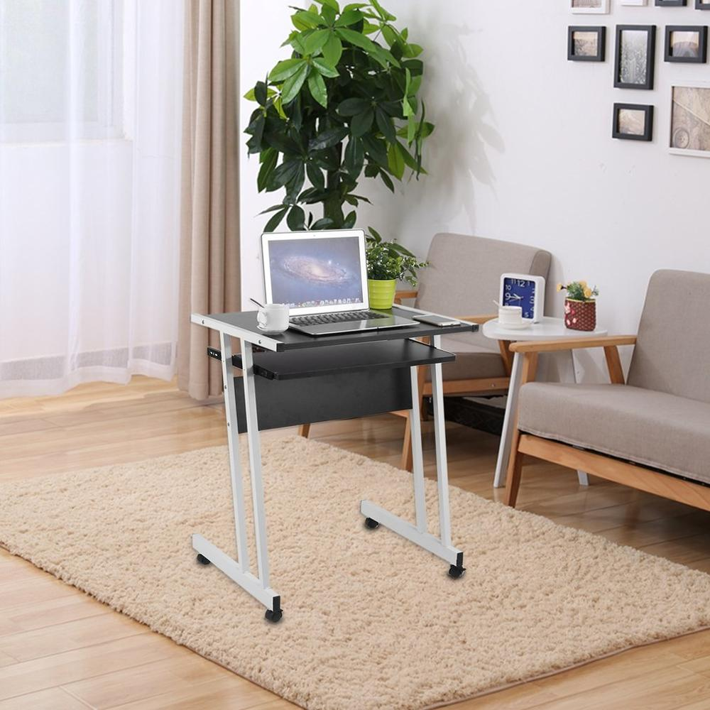 Rolling Laptop Table Durable Office Computer Desk Portable Notebook Work Station Household PC Table Laptop Stand