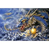 Full square/Round drill Diamond embroidery Dragon 5D DIY diamond Painting Cross Stitch Rhinestone Mosaic HYY