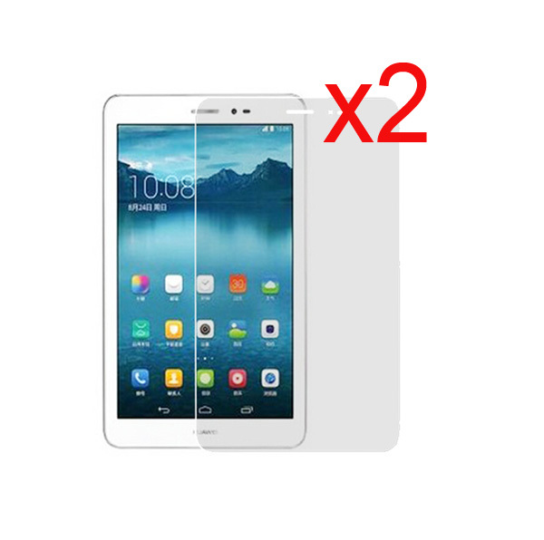 2x Films +2x Cloth, Retail Package Clear LCD Screen Protector Film Guards For HuaWei MediaPad T1 8.0 S8-701U/W T1-821W/823L 8""
