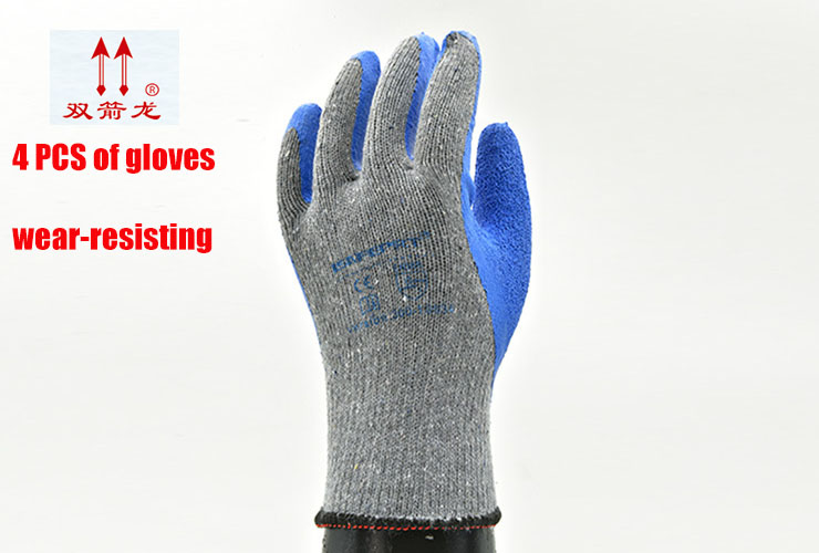 The New Latex coating protection gloves Gray blue Non-slip Wearable Oil resistant Cut off safety glove Practicality work gloves цена 2016