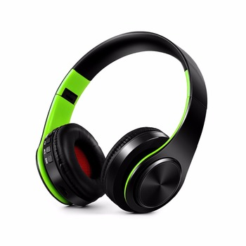 Free Shipping Stereo Shinning Bluetooth Headphones Wireless Stereo Headsets with Mic Support TF Card for iPhone Samsung Calls 5