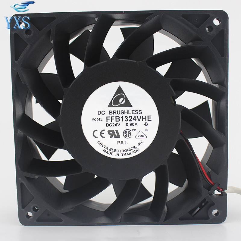 FFB1324VHE-B Inverter Double Ball Bearing Cooling Fan FFB1324VHE DC 24V 14.4W 0.9A 3050RPM 12738 127*127*38mm 12cm lee блузка