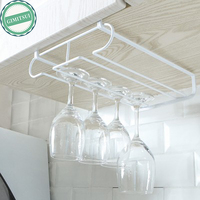Kitchen Bar Wine Glass Under Cabinet Rack Holder Shelf Hanger Stemware Bar Dining Shelf Organizer Cup