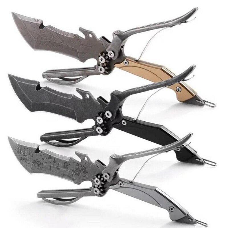 Outdoor multi function EDC tools camping portable scissors travel survival self defense multi purpose deformation scissors