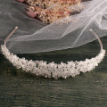 Handmade Silver bridal headband full crystal bridal hairbands vintage wedding hair accessories bridal headpiece Prom Crown