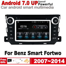 Android 7.0 up Car radio GPS multimedia player For Smart Fortwo 2007~2014 NTG Navi Map 2G+16G 2 Din HD Screen Stereo WiFi BT цена