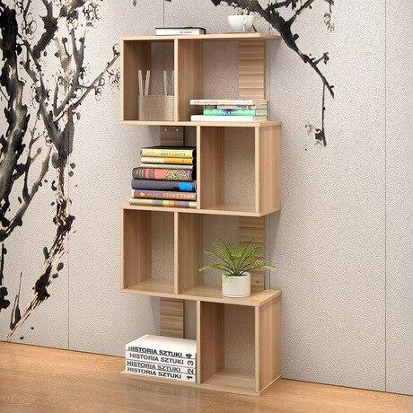 91 4 Bibliotheque Salon Meubles Meubles De Maison S Forme Etagere Livre Stand Bois Etagere Rack Minimaliste Bois Atril Para Libros In Bibliotheques