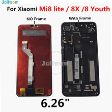 For Xiaomi Mi8 Lite LCD Display Touch Screen Digitizer with frame Assembly for Xiaomi Mi8 Lite LCD Youth 8X Mi 8 Lite LCD