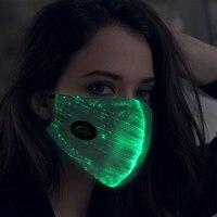 Hot Sale LED Light Up Mask Saful Flashing Mask 7 Colors Luminous Light for Men Women Rave Mask Party Christmas Halloween Decor