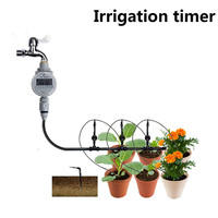 Lovely Pet Family Garden Irrigation Automatic Solar Energy Water Timer Garden Watering Tool Drop Shipping 70717