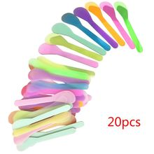 20Pcs/Set Plastic Facial Mask Mixing Spatulas Spoon Stick Cosmetic Makeup