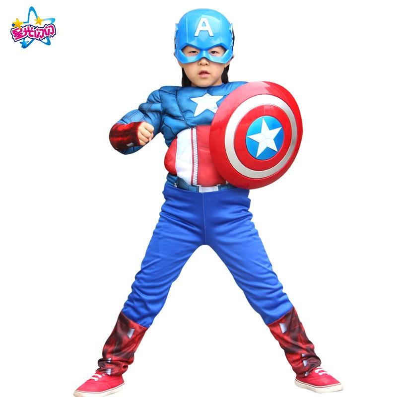 Gratis forsendelse Superhero Muscle Batman Captain America Iron Man - Kostumer - Foto 6