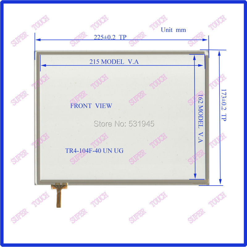 NEW 10.4 inch TR4-104F 40 Touch Screen 225mm*173mm 4 wire resistive Touch Panel for Industrial Touch Panel used commercial