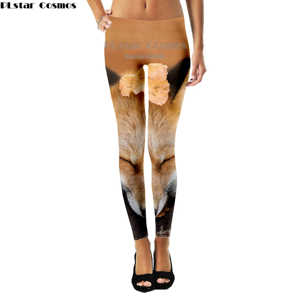 PLstar Cosmos Fox cute New Fashion Women Print Animal 3d full print Casual  Leggings Pants New Plus size S-5XL