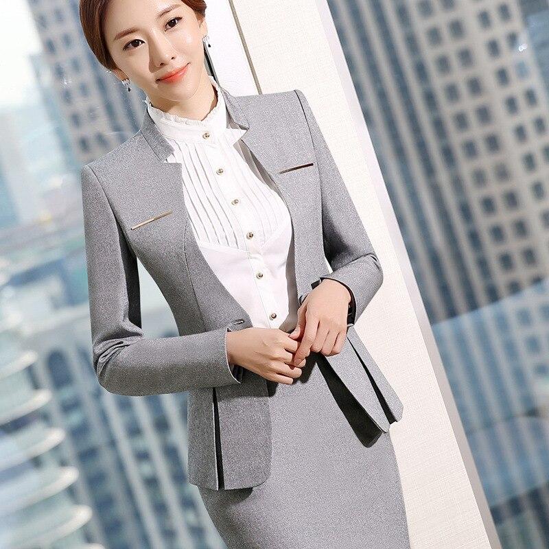 2019 Hot Sale Womens formal suits Female Uniform Elegant Business Pants Suits Women Workwear Office Suits Blazers 58