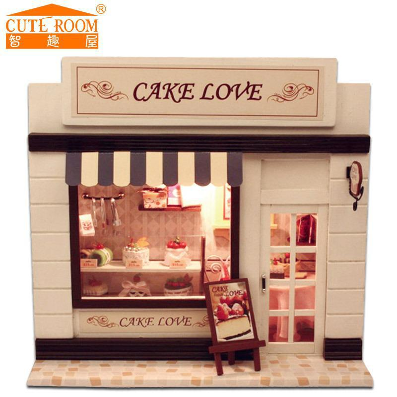 2016 dollhouse miniature toys home decoration crafts diy doll house wooden houses miniature dollhouse furniture kit cheap doll houses with furniture