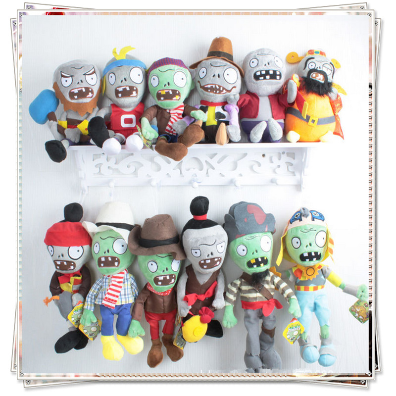 Plants vs zombies plush soft toy plants vs zombies cupcake doll toys for children plants vs zombies plush set cheap toys ...