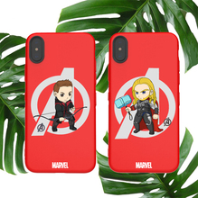 Marvel soft case for iphone X XS MAX XR 8 7 6 6S plus phone cover matte silicone Avengers Thor Odinson Hawkeye coque capa fundas