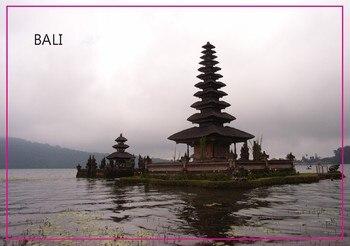 """Imanes rígidos rectangulares, Souvenir de viaje de Bali, rectángulo de 3 """"* 2"""", imán metálico para nevera 5303 para Cocina"""
