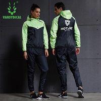 Hot Sweat Fitness Sport Suit Long Sleeve Hoodies Pants 2PCS Gym Training Tracksuits Jogging Yoga Men